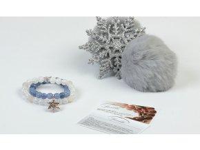 Set Touch of Christmas z akvamarínu a křišťálu